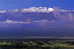 MAUNA KEA WITH SNOW & WAIMEA TOWN, Big Island, Hawaii