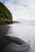 Pololu Valley Black Sand Beach, Big Island, Hawaii