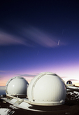 Keck Observatories at Sunrise, Mauna Kea, Big Island, Hawaii