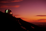 United Kingdom Infrared Observatory at sunset, Mauna Kea, Big Island, Hawaii