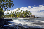 Keone'ele Cove and Hale o Keawe, Pu'uhonua o Honaunau NHP, big Island, Hawaii