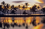 Anaeho'omalu Bay fishpond sunset, Waikoloa, Big Island, Hawaii