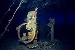 Bridge Helm and Telegraph, Shipwrecks of Truk Lagoon, Micronesia