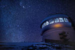 Gemini Observatory & stars, Mauna Kea Summit, Big Island, Hawaii