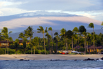 Kukio Bay & Mauna Kea with snow, Big Island, Hawaii