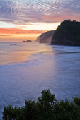 Pololu coastal sunrise, Big Island, Hawaii
