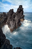Lapahoe'hoe rocks &amp; surf, Hamakua Coast, Big Island, Hawaii