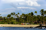 Kukio Beach with Mauna Kea & snow, Kona Coast, Big Island, Hawaii
