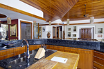 Custom home kitchen island, Holualoa, Big Island, Hawaii