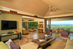 Hualalai Resort Golf Villa living room, Big Island, Hawaii