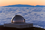 NASA Infrared Observatory &amp; Haleakula Crater, Mauna Kea summit, Big Island, Hawaii
