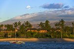 Full moon rising over Mauna Kea & Kukio Bay Resort, Big Island, Hawaii