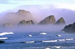 Fog rolling in on Oregon coast
