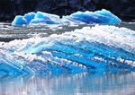 Sculpted Blue Ice Bergs, Tracy Arm Fjord, Tongass Natinal Forest, Southeast Alaska