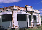 Abandoned Jewel Diner, a classic Art Deco-style American metal diner