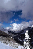 View north from Hurricane Ridge to gathering winter storm near Mt. Angeles, Olympic National Park, Washington, USA, March, 41,183.