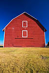Red barn built in 1908 to store hay and grain grown on the farm settled by Samuel and Sarah Olmstead in 1875, Olmstead Place State Park, Kittitas Valley near Ellensburg, Washington, USA, November, 2007_WA_2086