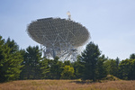 The Robert C. Byrd Green Bank Telescope, the world's largest fully steerable radio telescope, is about 100 meters wide, National Radio Astronomy Observatory, Green Bank, West Virginia, USA, 2007_WV_0488