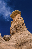 Hoodoos and cliffs along the Cave Loop Trail at Kasha-Katuwe Tent Rocks National Monument in New Mexico, USA