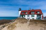 Point Betsie Lighthouse near Frankfort, Michigan, located along Lake Michigan, USA