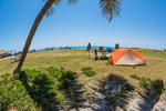 Campground outside Fort Jefferson on Garden Key in Dry Tortugas National Park, Florida, USA
