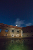 Harbor Light at night on Fort Jefferson, on Garden Key in Dry Tortugas National Park, Florida, USA