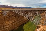 Navajo Bridge spanning the Colorado River and Marble Canyon at the edge of the Navajo Nation, adjacent to Glen Canyon National Recreation Area, Arizona, USA