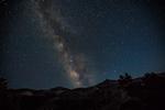 Milky Way in the night sky above Tamarack Lake in the Desolation Wilderness, Eldorado National Forest, Sierra Nevada, California, USA