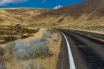 Remote highway in central Nevada, USA