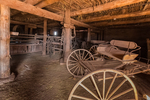Barn interior at Hubbell Trading Post National Historic Site within the Navajo Nation, Arizona, USA