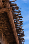 Roof detail for barn at Hubbell Trading Post National Historic Site within the Navajo Nation, Arizona, USA