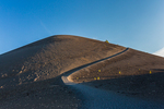 Cinder Cone Trail to the summit of Cinder Cone in late afternoon light, in Lassen Volcanic National Park, California, USA