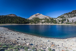 Lake Helen with Lassen Peak rising behind, in Lassen Volcanic National Park, California, USA