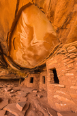 Fallen Roof Ruin, with its dramatic evidence of Ancestral Puebloan habitation, Bears Ears National Monument, southern Utah, USA