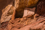 Large stone slabs used in Ancestral Puebloan buildings in Road Canyon, Bears Ears National Monument, southern Utah, USA