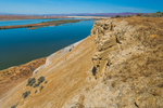 View of Columbia River from along the route to White Bluffs in Hanford Reach National Monument, Columbia River Basin, Washington State, USA