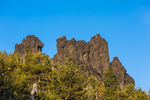 Volcanic outcrops on Paulina Peak in Newberry National Volcanic Monument, central Oregon, USA