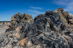 Pumice and obsidian along the Big Obsidian Flow Trail in Newberry National Volcanic Monument, central Oregon, USA