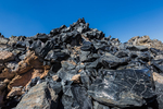 along the Big Obsidian Flow Trail in Newberry National Volcanic Monument, central Oregon, USA