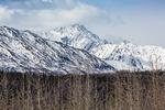Dramatic mountains rising around the Matanuska Glacier, northeast of Anchorage, Alaska, USA