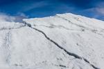 Ice formations near the end of Matanuska Glacier, northeast of Anchorage, Alaska, USA