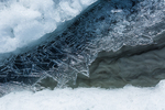 Ice crystals form overnight on a small stream on Matanuska Glacier, northeast of Anchorage, Alaska, USA