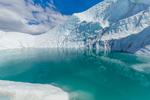 Small glacial lake on Matanuska Glacier, northeast of Anchorage, Alaska, USA