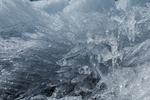 Small ice crystals on Matanuska Glacier, northeast of Anchorage, Alaska, USA