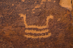Could this petroglyph be portraying a coiled rattlesnake?, in Nine Mile Canyon, Utah, USA