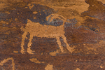 Pictograph of Bighorn Sheep in Nine Mile Canyon, Utah, USA