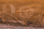 Shield pictographs created by ancient people in Nine Mile Canyon, Utah, USA
