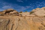 Slickrock just below rim along the trail into Horseshoe Canyon in Canyonlands National Park, Utah, USA