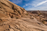 Trail created from an old prospecting road into Horseshoe Canyon in Canyonlands National Park, Utah, USA