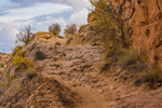 Trail Leading out of Horseshoe Canyon, originally blasted and bulldozed by prospectors,  in Canyonlands National Park, Utah, USA